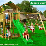Детский городок Jungle Gym Chalet + Swing Module X'tra