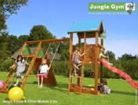 Детский городок Jungle Gym Castle + Climb Module Xtra